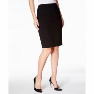 CALVIN KLEIN Black Professional Pencil Skirt NWT